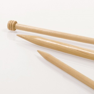 Basic Single Pointed Needles in Birch 35cm