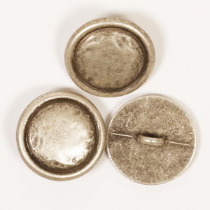 Silver Colour Loop Button 20mm