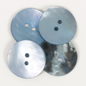 Round Blue Mother of Pearl  Button 20mm