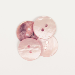 Round Blush Mother of Pearl  Button 15mm