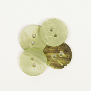 Round Green Mother of Pearl  Button 15mm