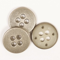 Steel Colour Round Button 23mm