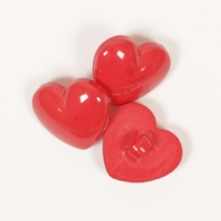 Heart Button 15mm