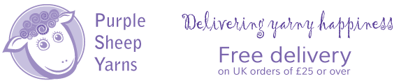 Purple Sheep Yarns,  Delivering yarny happiness, Free delivery on uk orders of £25 or over