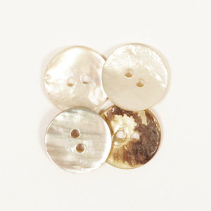 Arched White Mother of Pearl 15mm