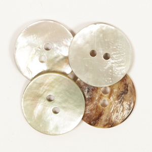 Arched White Mother of Pearl 20mm