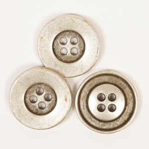 Silver Colour Round Button 20mm