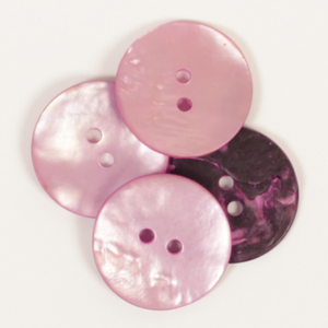 Round Pink Mother of Pearl  Button 20mm
