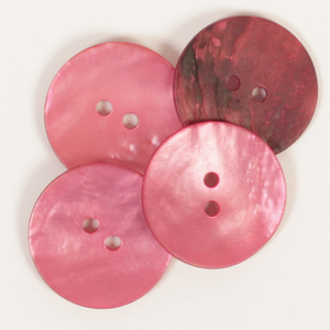 Round Red Mother of Pearl  Button 20mm
