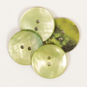 Round Green Mother of Pearl  Button 20mm