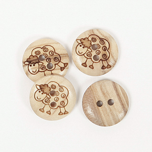 Sheep Button 15mm