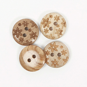 Flower Button 15mm
