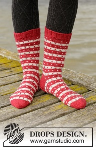 DROPS Candy Cane Lane Socks