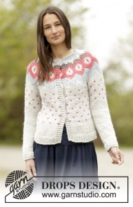 DROPS Winter Poppies Cardigan