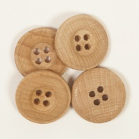 Round Oak Button 20mm