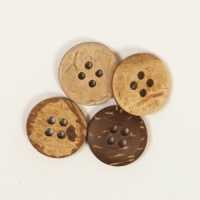 Round Coconut Button 15mm