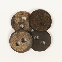 Round Buffalo Horn Button 20mm