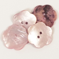 Blush Flower Mother of Pearl  Button 25mm