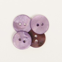 Round Purple Mother of Pearl  Button 15mm