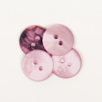 Round Pink Mother of Pearl  Button 15mm